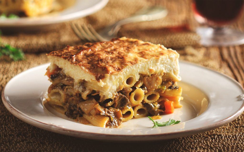 Takoumparia Pastitsio Cooked